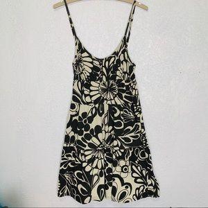 Foxy floral Black and Tan spaghetti strap sundress